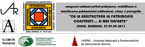 DE LA ARHITECTURA LA PATRIMONIU CONSTRUIT... SI MAI DEPARTE