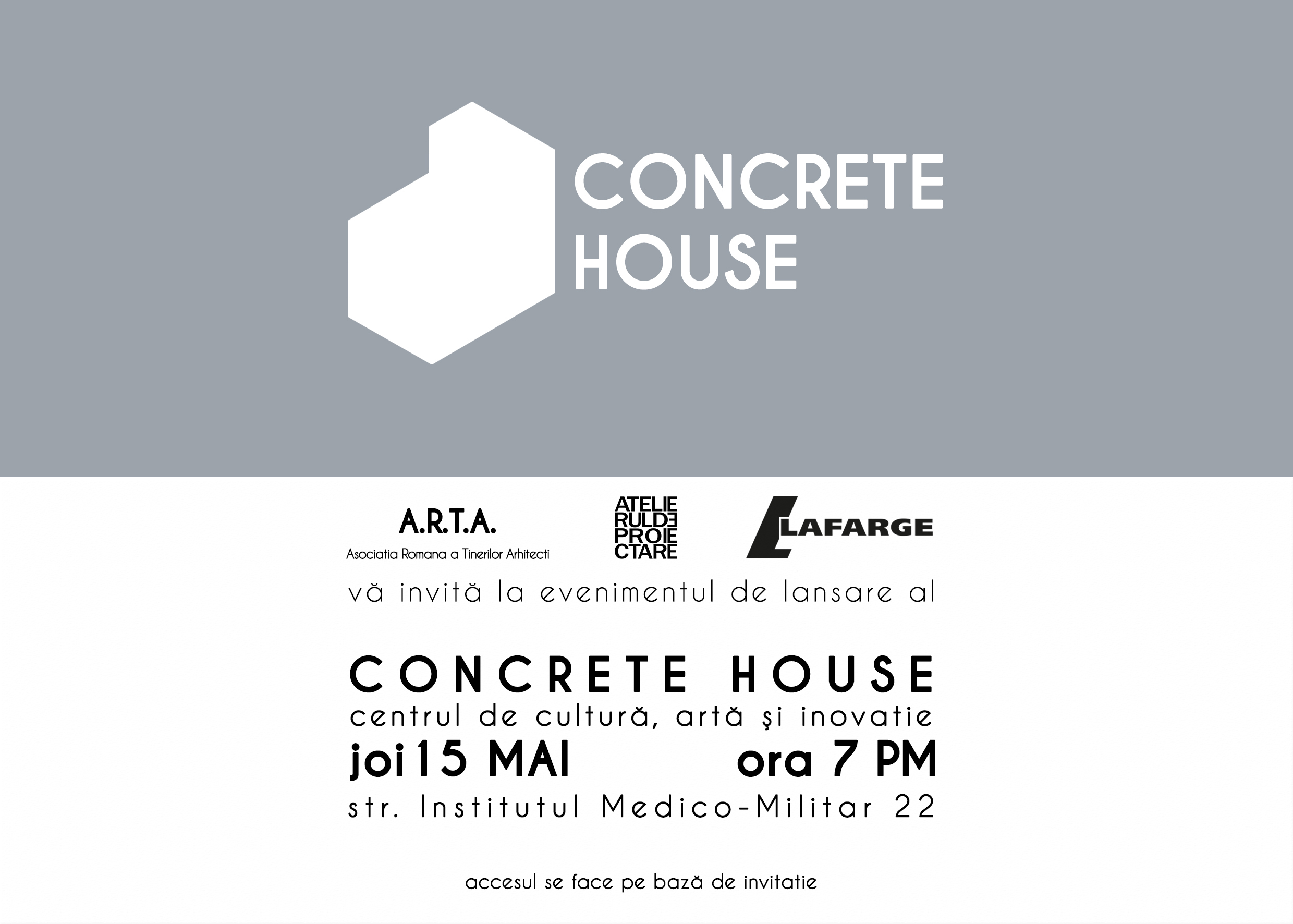 Invitatie Concrete House Lunch Party